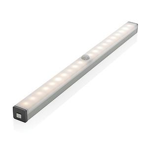 Velké LED světlo s pohybovým senzorem a USB nabíjením, stříbrná