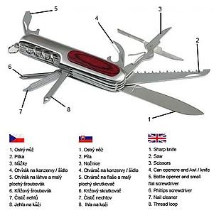 SCHWARZWOLF HUNTER kapesní nůž, 9 ks nářadí