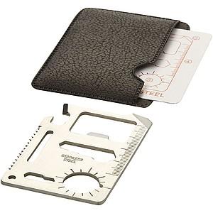 Multifunkční karta 15 v 1, stříbrná v černém pouzdře