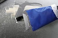 Autoškrabka s rukavicí, modrá