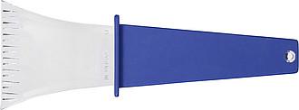 Plastová autoškrabka s rukojetí, tmavě modrá