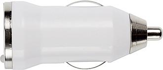 CANOPUS Plastový adaptér z autonabíječky do USB, bílý