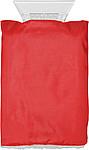 RACLE Škrabka na auto s rukavicí, červená