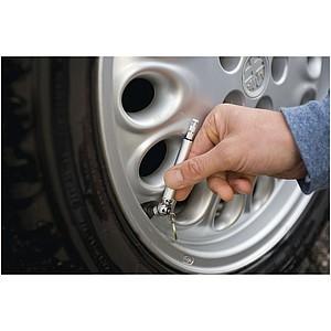 Přívěsek na měření tlaku v pneumatikách auta, stříbrný