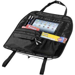 Organizér na sedadlo s prostorem pro iPad, černá