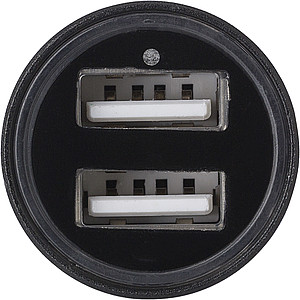 ISADORE Adaptér do auta se 2 USB porty, černý