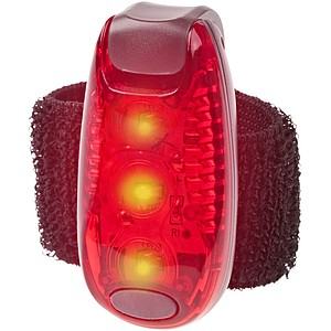 GIGANTO Bezpečnostní světlo, pásek na suchý zip, červená
