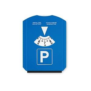 Parkovací karta se škrabkou na sníh z PS plastu, modrá