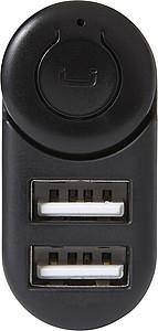 Autonabíječka se 2 USB a integrovaným bluetooth sluchátkem