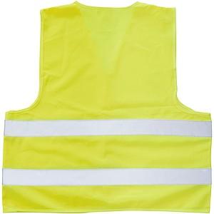 Bezpečnostní vesta v obalu, fluorescenční žlutá