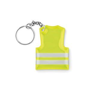 Přívěšek na klíče ve tvaru reflexní vesty
