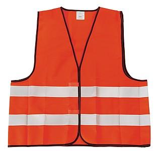 Bezpečnostní vesta s reflexními pruhy, fluorescenční oranžová