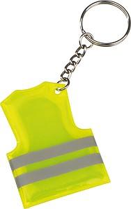 Plastový přívěšek ve tvaru bezpečností vesty