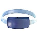 Bezpečnostní náramek s LED světlem, modrý