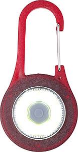 MENSILA Karabina se zabudovaným COB LED světlem, červená