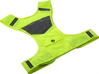Bezpečnostní vesta se zabudovanými světly, fluorescenční žlutá.