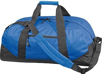 Sportovní taška z 600D nylonu s popruhem přes rameno, modrá