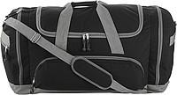 TUVALU Sportovní cest. taška s množstvím přihrádek, černá