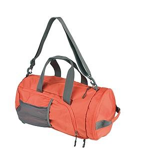 SCHWARZWOLF BRENTA skládací taška/batoh, oranžová papírová taška s potiskem