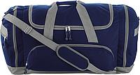 TUVALU Sportovní cestovní taška s množstvím přihrádek, modrá