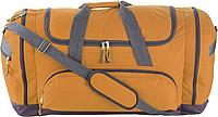 TUVALU Sportovní cestovní taška s množstvím přihrádek, oranž.