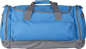 Sportovní cestovní taška s množstvím přihrádek, světle modrá