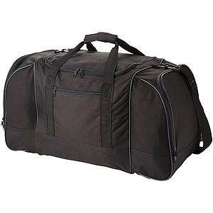 Čtvercová cestovní taška, nastavitelný ramenní pruh, černá