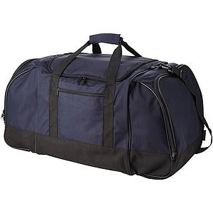 Čtvercová cestovní taška, nastavitelný ramenní pruh, modrá