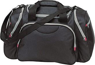 Sportovní nebo cestovní taška se spoustou kapes, černá