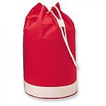 Dvoubarevná námořní bavlněná taška s bílým pruhem, červená