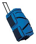 Cestovní taška na kolečkách, černá modrá