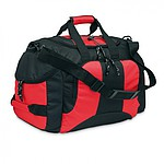 PORTOS Sportovní taška s 3 přihrádkami na zip, červená