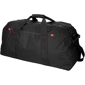 Velká cestovní taška, černá, červené doplňky