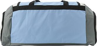 KUVAJT Velká cestovní taška s koncovými kapsami, modrá