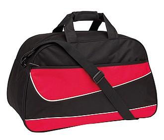 PEPES Sportovní taška, černo červená