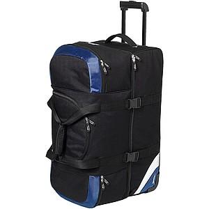 Velká cestovní taška na kolečkách Slazenger, černá/královská modrá