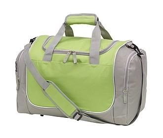 DESOLA Sportovní taška se síťovanou kapsou na boty, šedo zelená