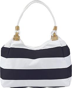 MARIKA plážová taška modro-bílá