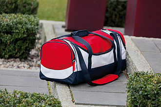 Sportovní taška s bočními kapsami, tříbarevná