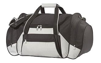 cestovní taška, 600 D pol., černá, šedá