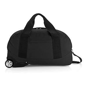 Jednoduchá cestovní taška na kolečkách, černá
