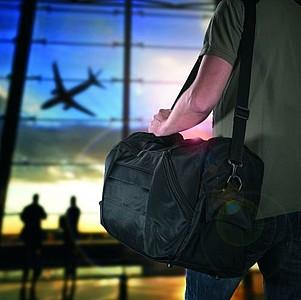 VENEZUELA Cestovní taška z mikrovlákna, černá