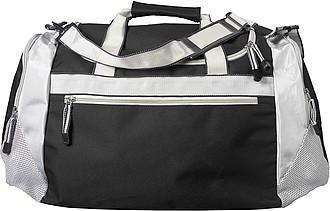 WIMBLEDON Sportovní taška černá stříbrná