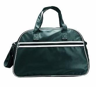 Sportovní taška v matném PVC provedení, černá