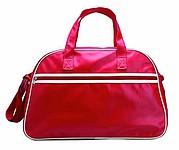 Sportovní taška v matném PVC provedení, červená