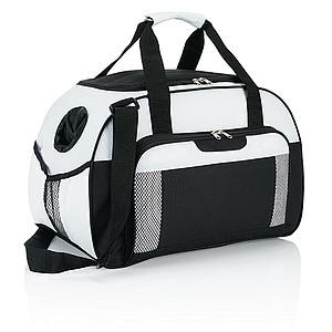 DRAVONA Lehká a odolná sportovní taška, modrá/bílá