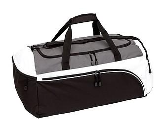 Sportovní taška, černo bílo šedá