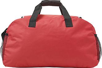 VERUNA Sportovní taška s přední kapsou na zip, červená