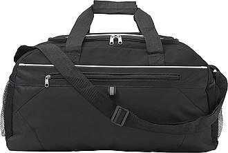 Sportovní taška s přední kapsou na zip, černá
