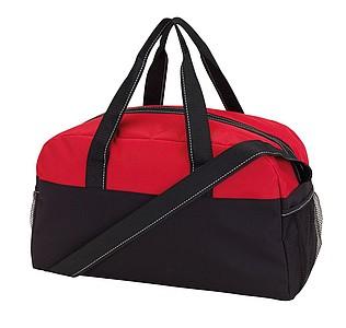 Sportovní taška, černo červená